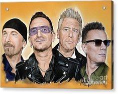 U2 Band Acrylic Print