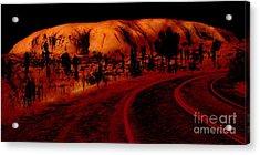 Uluru Sunrise Acrylic Print