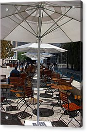 Acrylic Print featuring the photograph Umbrella's by Joanne Coyle