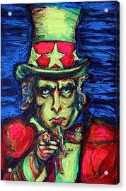 Uncle Sam Acrylic Print by Hannah Curran