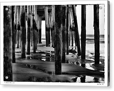 Under The Pier Acrylic Print by Richard Bean