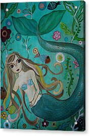 Under The Sea Acrylic Print by Pristine Cartera Turkus