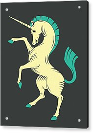 Unicorn Acrylic Print by Jazzberry Blue