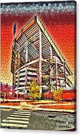 University Of Maryland - Byrd Stadium Acrylic Print by Stephen Younts