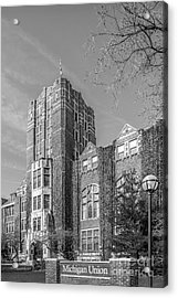 University Of Michigan Union Acrylic Print by University Icons