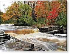 Unnamed Falls Acrylic Print by Michael Peychich