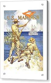 Us Marines - Ww1 Acrylic Print by War Is Hell Store