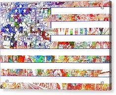 Usa Flag 13 Acrylic Print