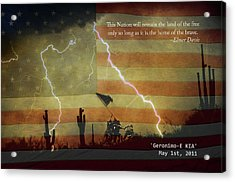Usa Patriotic Operation Geronimo-e Kia Acrylic Print by James BO  Insogna
