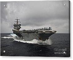 Uss Enterprise Acrylic Print by Celestial Images