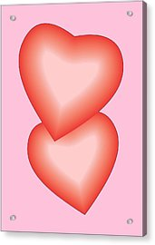 Acrylic Print featuring the digital art Valentine Hearts by Sherril Porter