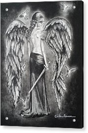 Valkyrie Angel Acrylic Print by Carla Carson
