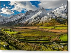 Valley Light Acrylic Print by Adrian Evans