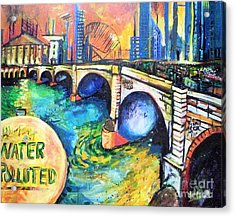 Acrylic Print featuring the painting Van Gogh Today by Linda Shackelford