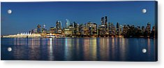 Acrylic Print featuring the photograph Vancouver City Twilight by Pierre Leclerc Photography