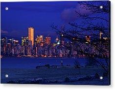 Vancouver Skyline Acrylic Print by Paul Kloschinsky