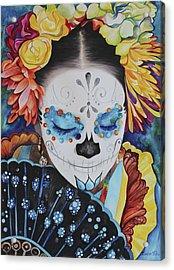 Vanessa Acrylic Print by Barbara  Rivera