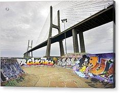 Vasco Da Gama Bridge Acrylic Print by Andre Goncalves