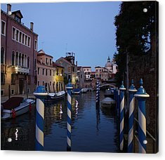 Acrylic Print featuring the photograph Venice At Night by Pat Purdy