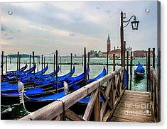 Venice Canal Gondolas  Acrylic Print by Ken Andersen