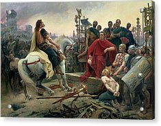 Vercingetorix Throws Down His Arms At The Feet Of Julius Caesar Acrylic Print