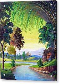 Verde Que Te Quero Verde Acrylic Print by Leomariano artist BRASIL
