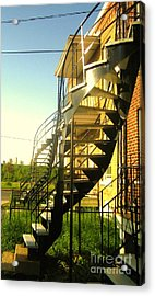 Verdun Stairs Acrylic Print by Reb Frost