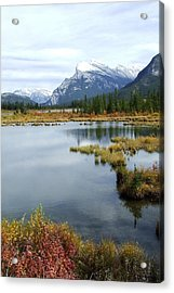Vermillion Lakes Acrylic Print by Tiffany Vest