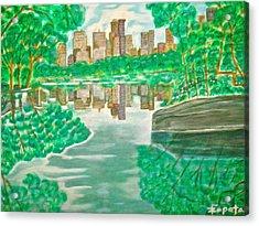 View From Oak Bridge Central Park Acrylic Print