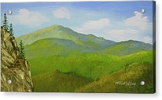 Acrylic Print featuring the painting View From The Bluffs by Frank Wilson