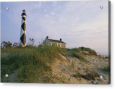 View Of Cape Lookout Lighthouse Acrylic Print by Stephen Alvarez