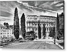 View Of The Back Of The Coliseum Early On A Sunny Summer Morning Acrylic Print by George Westermak
