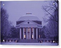 View Of The University Of Virginias Acrylic Print by Kenneth Garrett
