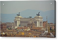 View Of Vittoriano Acrylic Print by JAMART Photography