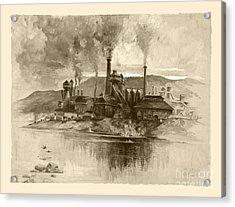 Vintage Antique Bethlehem Steel Factory Acrylic Print