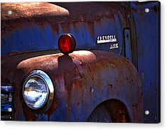 Vintage Chevy 4400 Happily Retired Acrylic Print by Lesa Fine