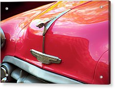 Acrylic Print featuring the photograph Vintage Chevy Hood Ornament Havana Cuba by Charles Harden