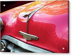 Vintage Chevy Hood Ornament Havana Cuba Acrylic Print by Charles Harden