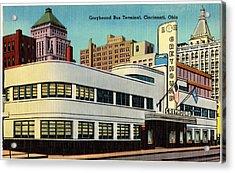 Vintage Cincinnati Postcard Acrylic Print