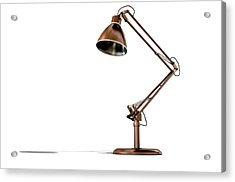Vintage Copper Desk Lamp Acrylic Print by Allan Swart