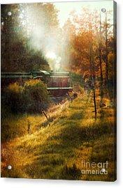 Vintage Diesel Locomotive Acrylic Print by Jill Battaglia