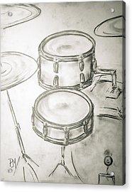 Vintage Drums II Acrylic Print