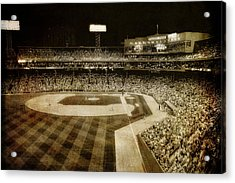 Vintage Fenway Park - Boston Acrylic Print by Joann Vitali