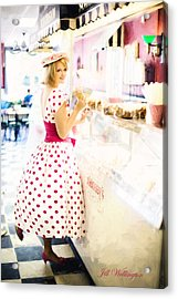 Vintage Val Ice Cream Parlor Acrylic Print