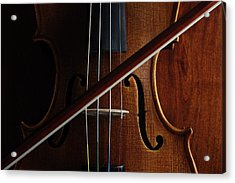 Violin Acrylic Print by Nichola Evans