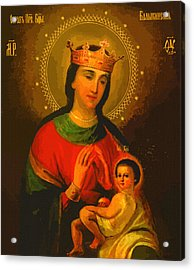 Virgin And Child Acrylic Print by Christian Art