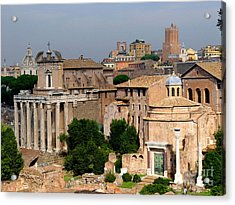 Visions Of Rome Acrylic Print by Nancy Bradley