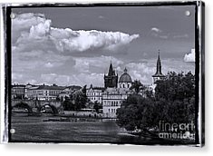 Vltava River, Smetana Museum And Novotneho Lavka In Background Acrylic Print by Doc Braham