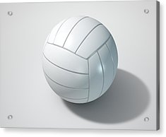 Volleyball Isolated Acrylic Print