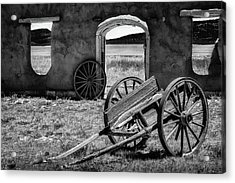 Wagon Wheels In Bw Acrylic Print by James Barber